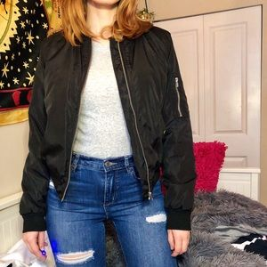 Jackets & Blazers - Puffy black bomber jacket